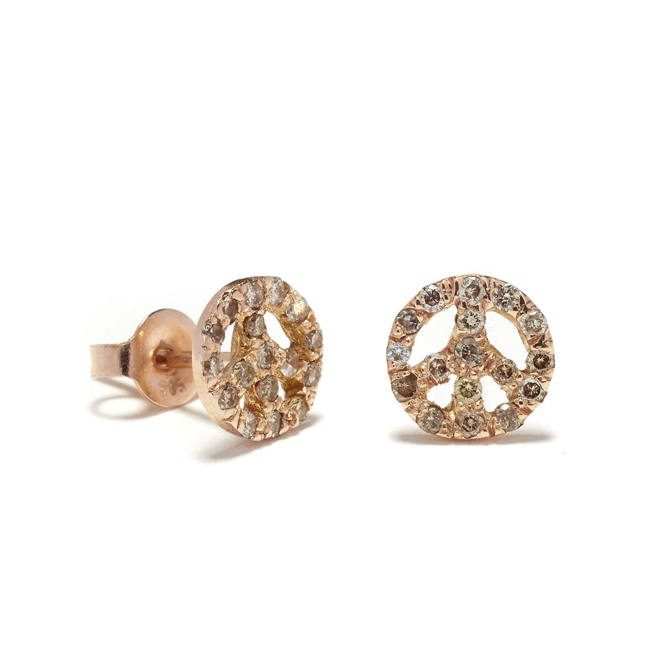 pink-gold-peace-sign-studs