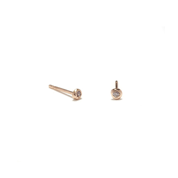 pink gold pink diamond seedling studs