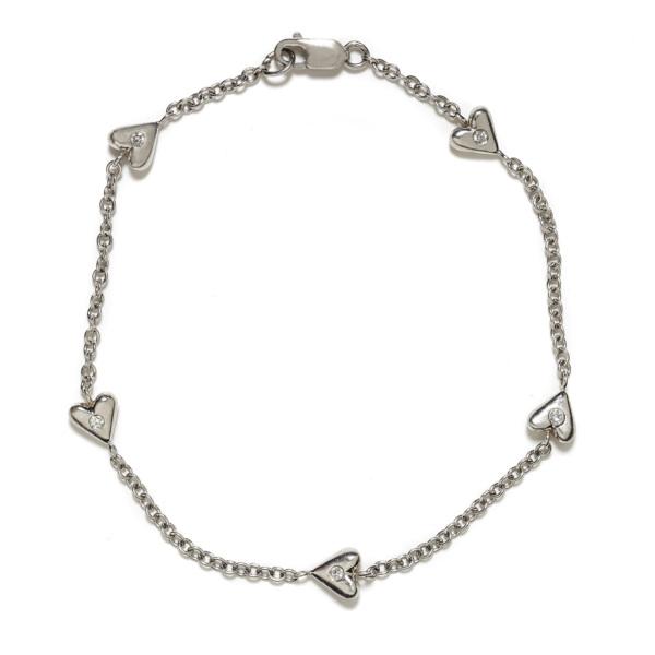 platinum puff heart bracelet