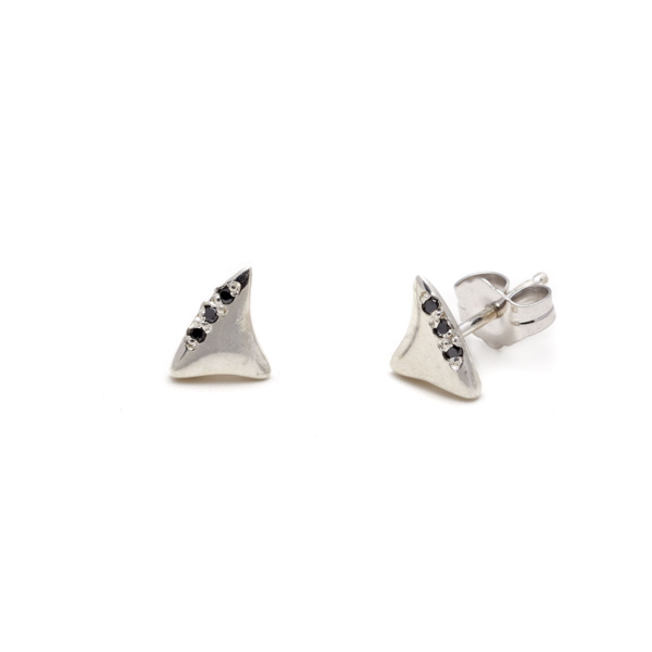 sterling silver baby shark tooth studs