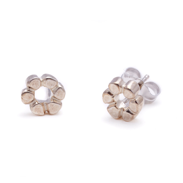 sterling silver flower child studs