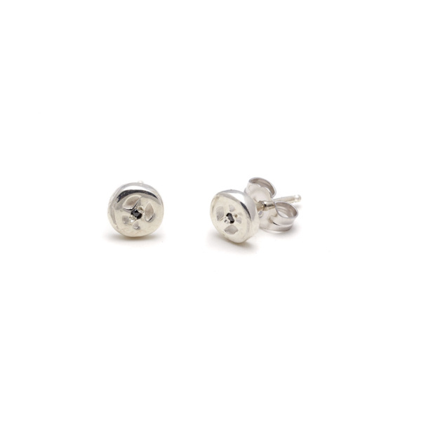 sterling silver peace disk studs