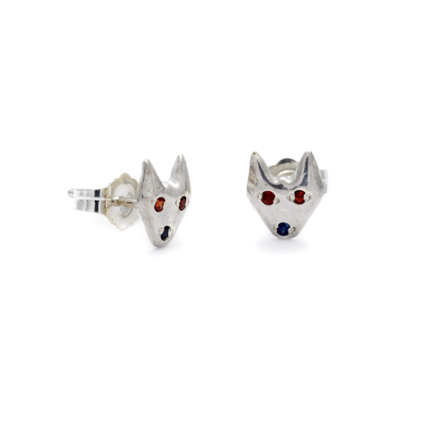 sterling silver puppy studs