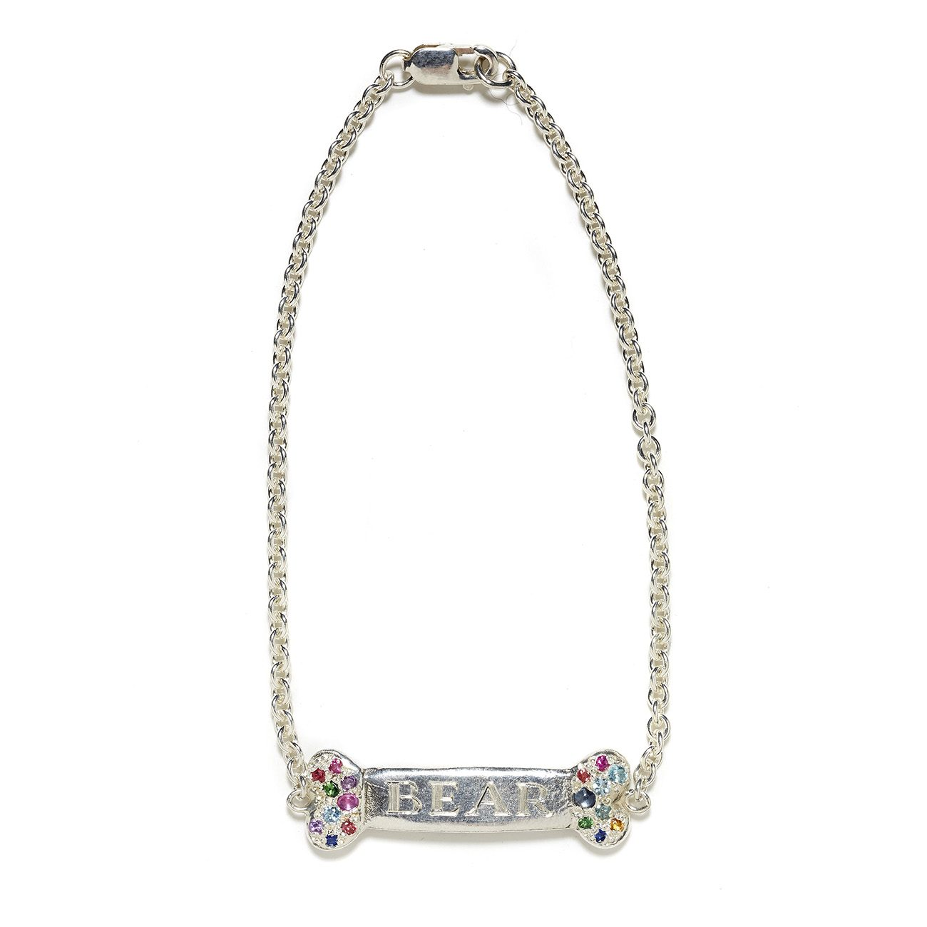 sterling silver turquoise dog bone ID bracelet