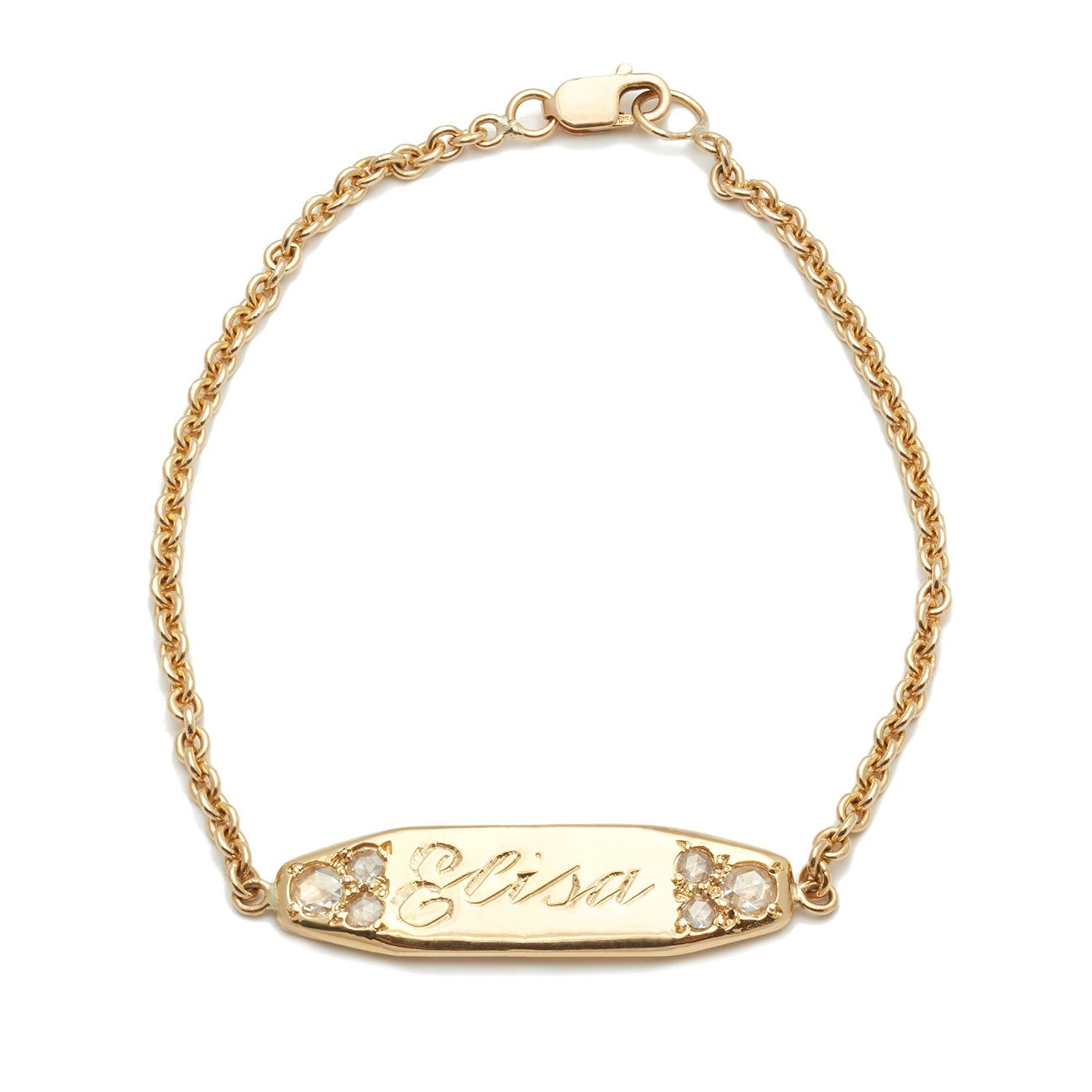 yellow gold ID bracelet