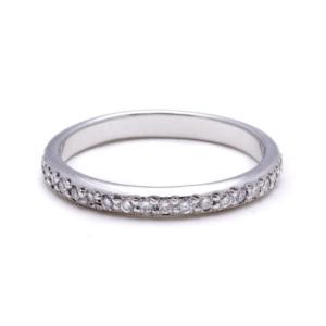 Platinum Womens Wedding Band Diamonds