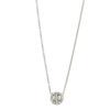 Elisa Solomon - Platinum Diamond Tiny Peace Sign Necklace