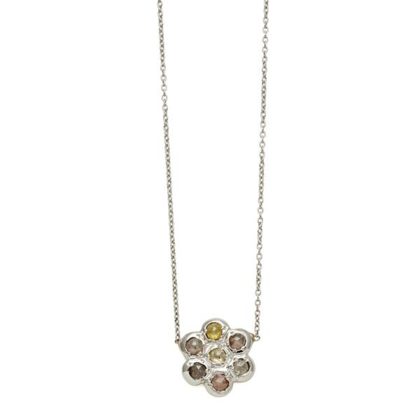 Elisa Solomon - Platinum Flower Necklace