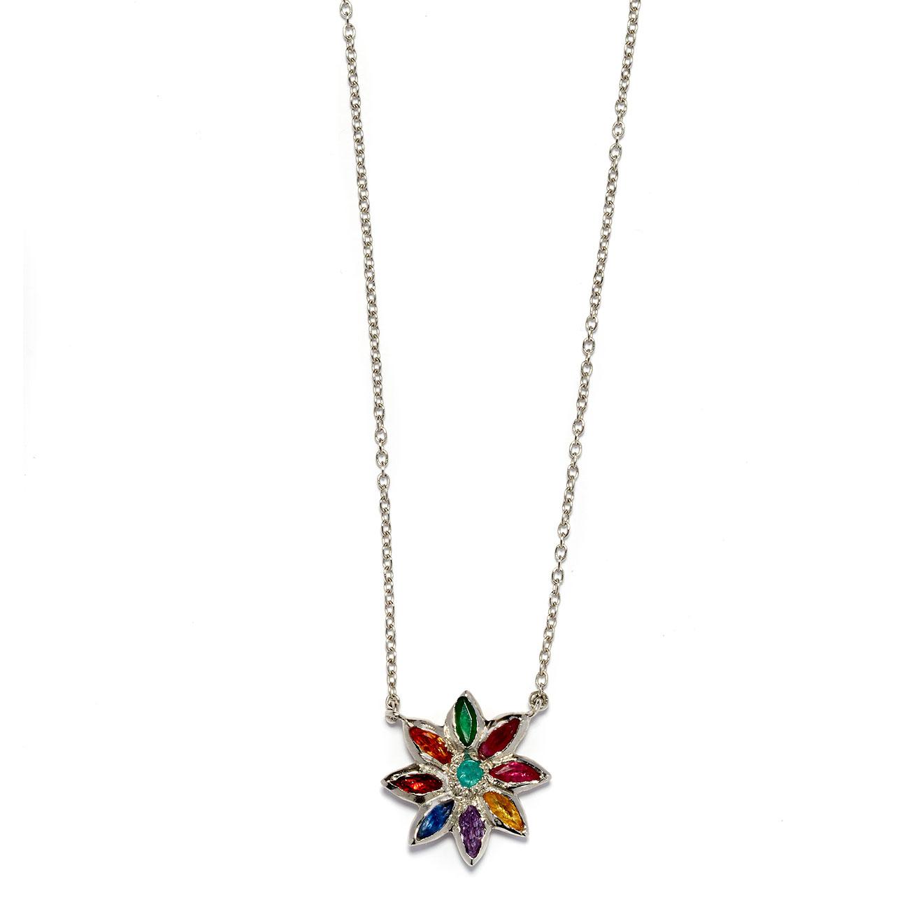 Platinum Flower Power Necklace - Elisa Solomon