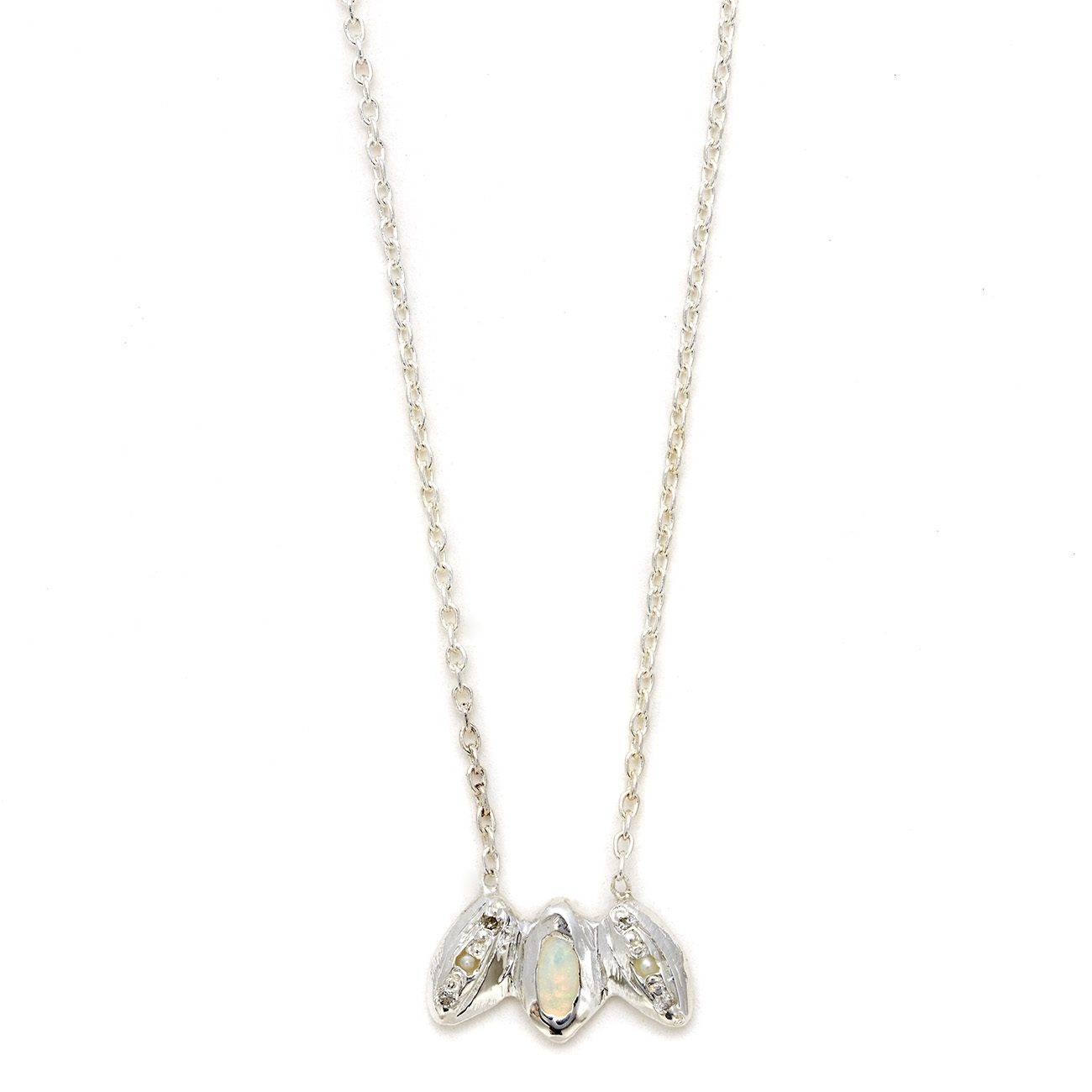 Elisa Solomon - Sterling Silver 3 Marquis Necklace