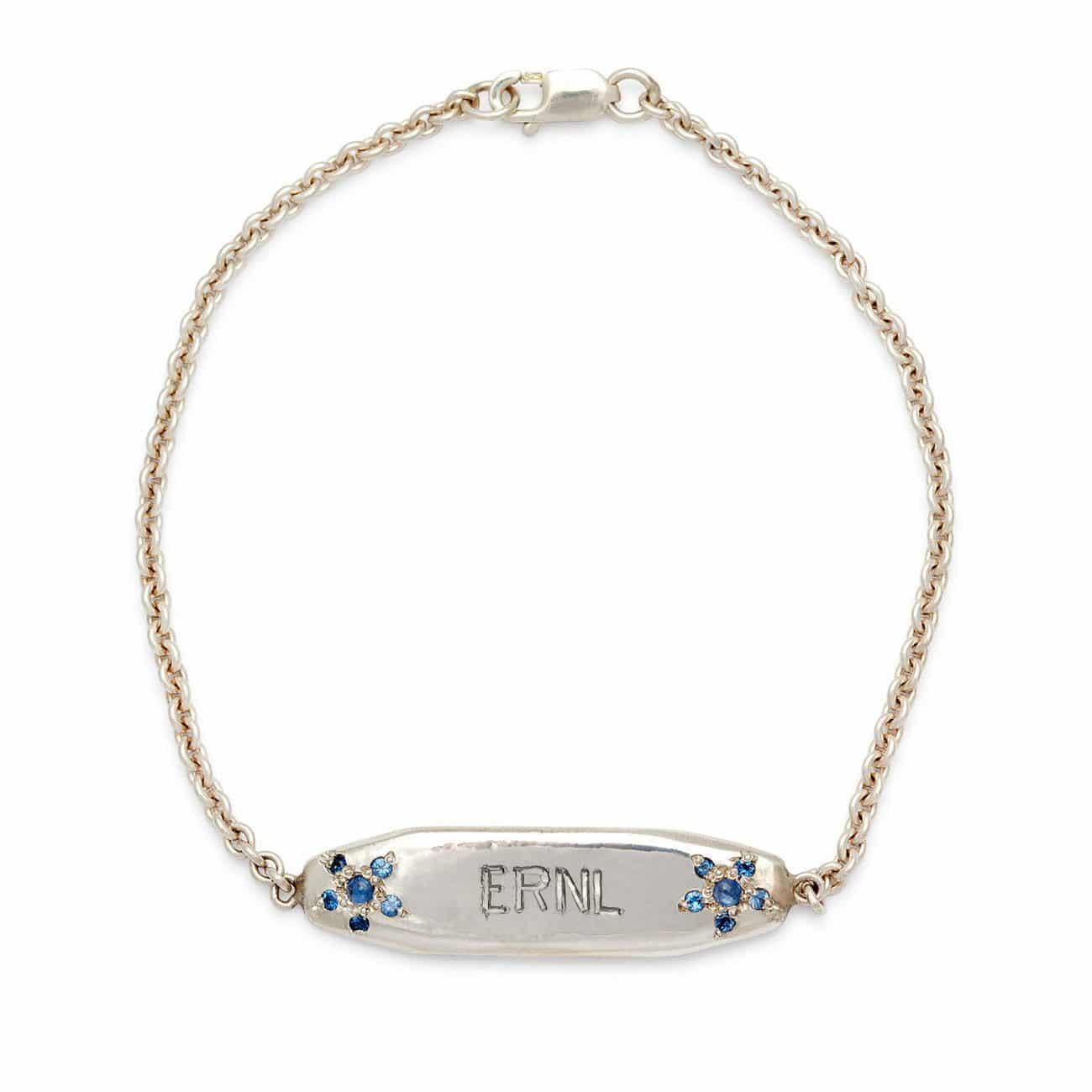 sterling silver ID bracelet 4 letters