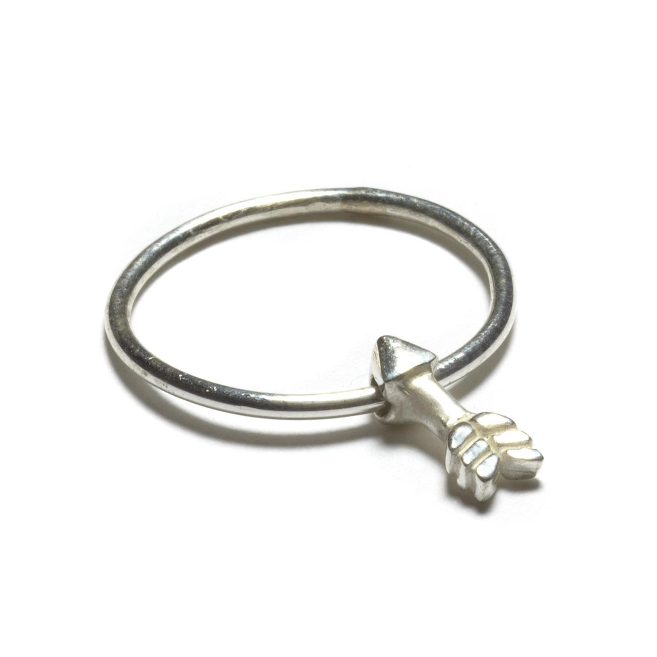 Sterling silver arrow ring elisa solomon jewelry for Jewelry storm arrow ring