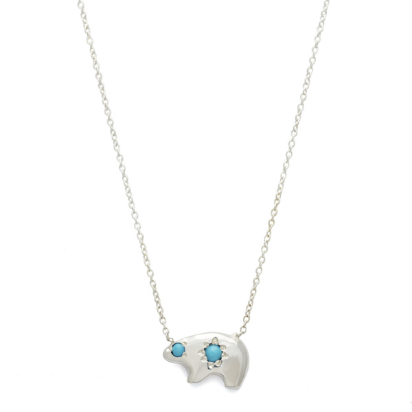 Elisa Solomon - Sterling Silver Bear Necklace