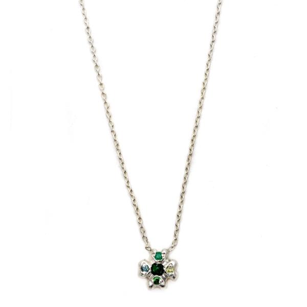 Elisa Solomon - Sterling Silver Clover Necklace