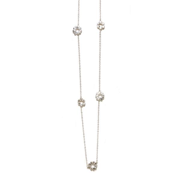 Elisa Solomon - Sterling Silver Flower Child Necklace