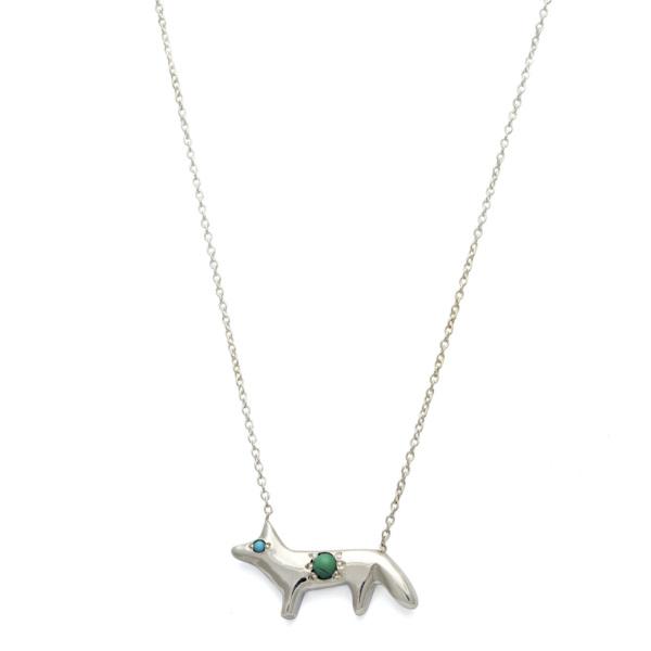 Elisa Solomon - Sterling Silver Fox Necklace