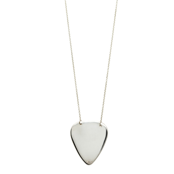 Elisa Solomon - Sterling Silver Guitar Pick Necklace