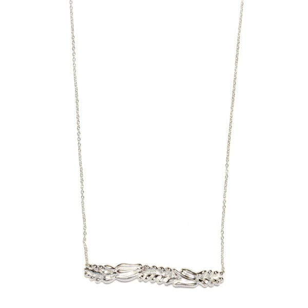 Elisa Solomon - Sterling Silver Leaf Bar Necklace