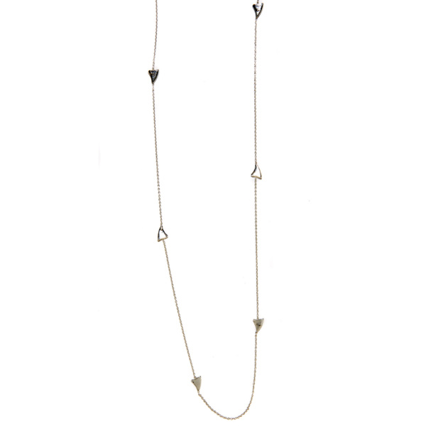 Elisa Solomon - Sterling Silver Long Shark Tooth Necklace