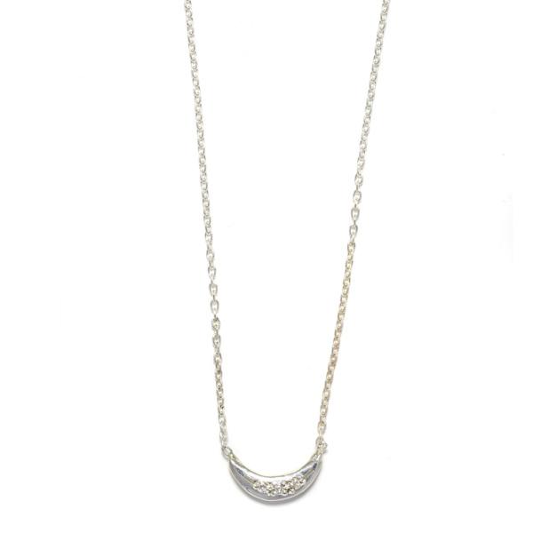 Elisa Solomon - Sterling Silver Mini Moon Necklace