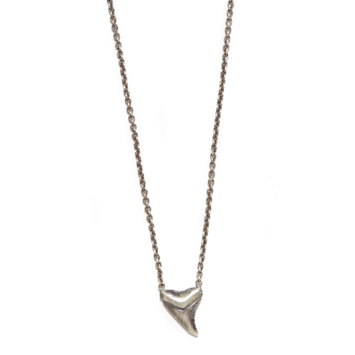 Elisa Solomon - Sterling Silver Shark Tooth Necklace