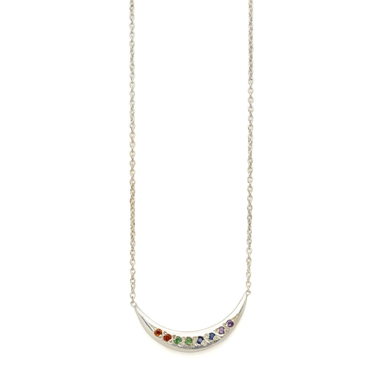 Elisa Solomon - Sterling Silver Tie Dye Moon Necklace