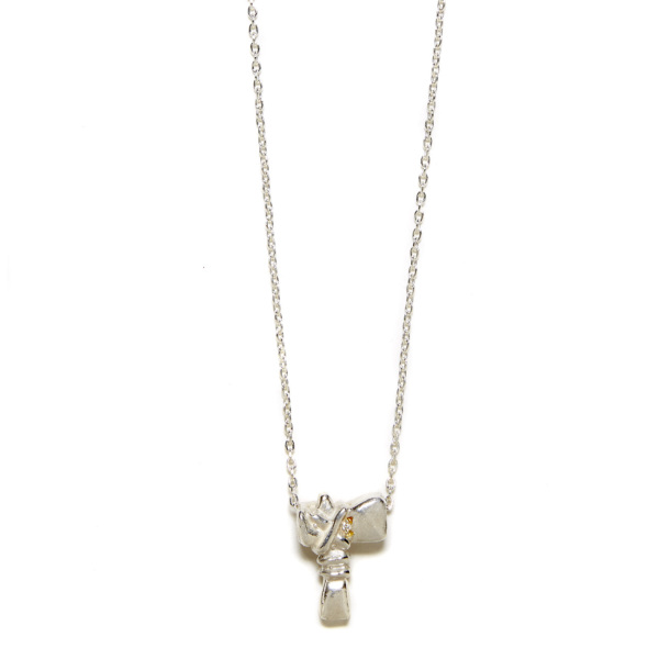Elisa Solomon - Sterling Silver Tomahawk Necklace