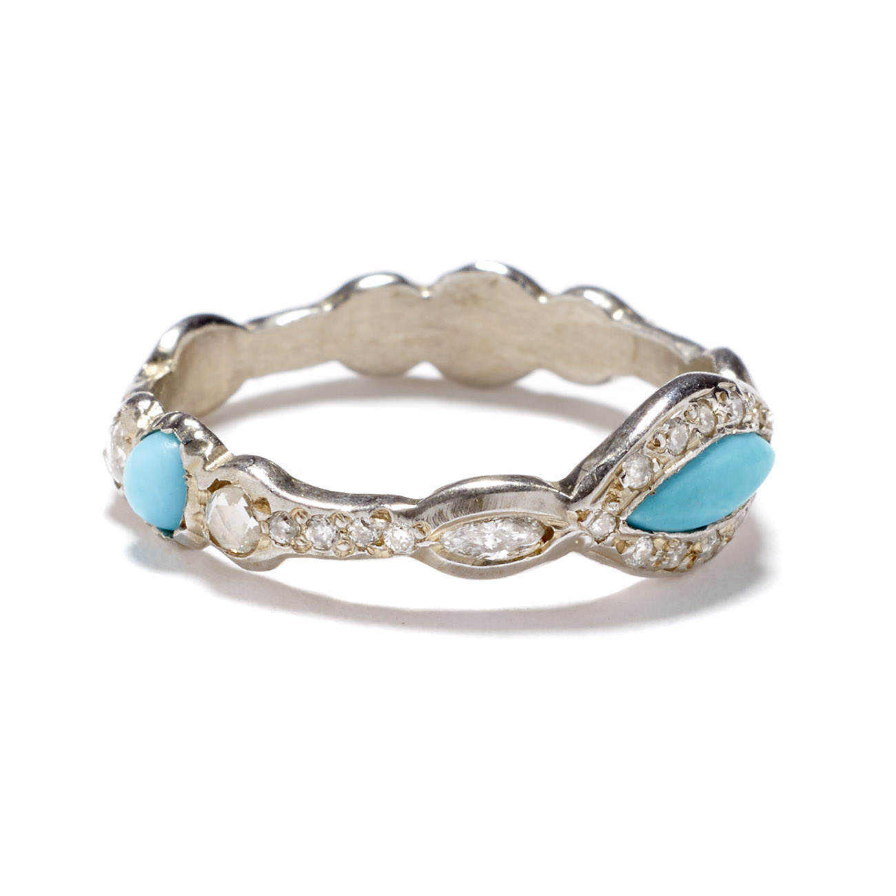 white gold turquoise eye ring elisa solomon jewelry