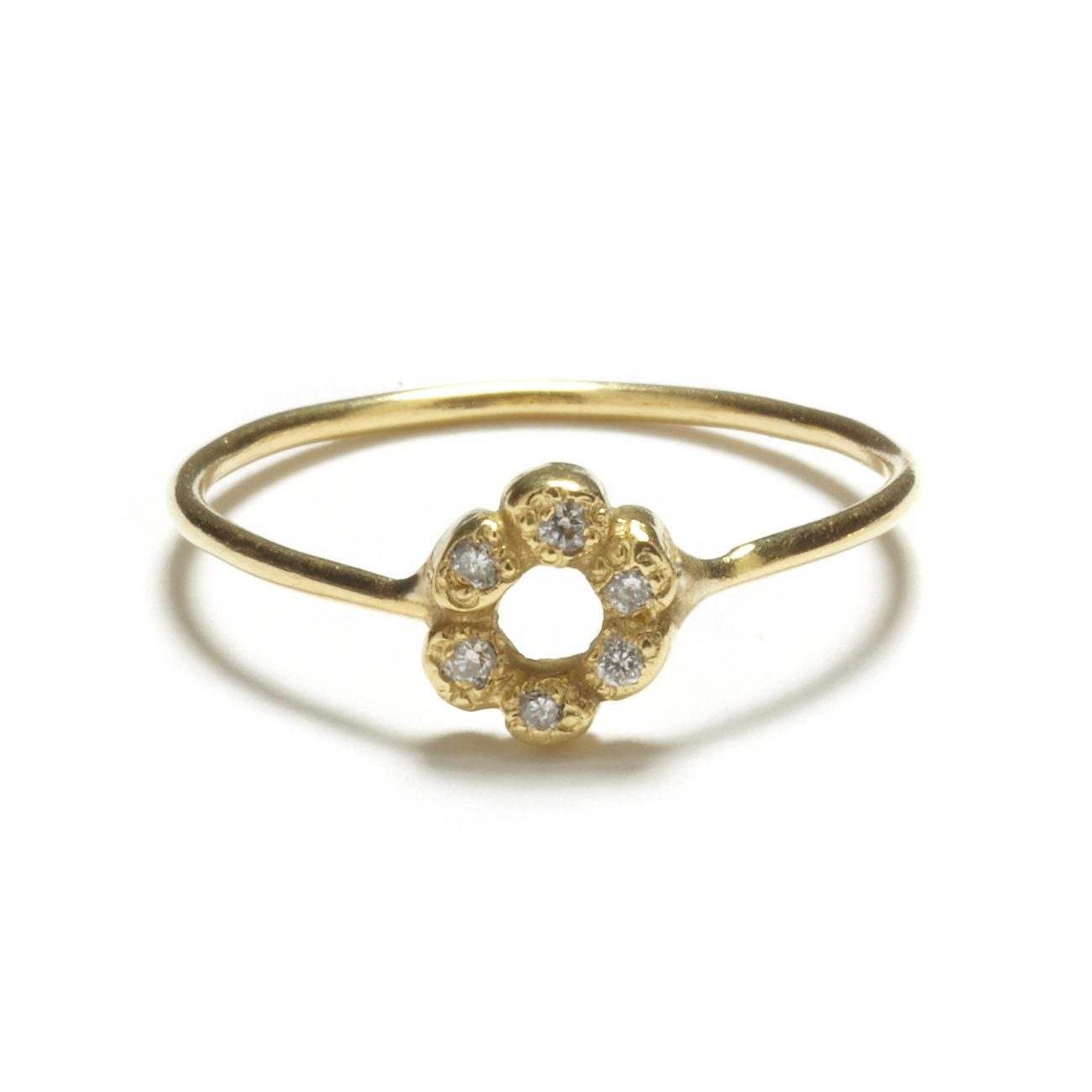 Diamond Flower Child Ring Elisa Solomon Jewelry