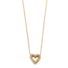 Elisa Solomon - Yellow Gold Diamond Open Heart Necklace