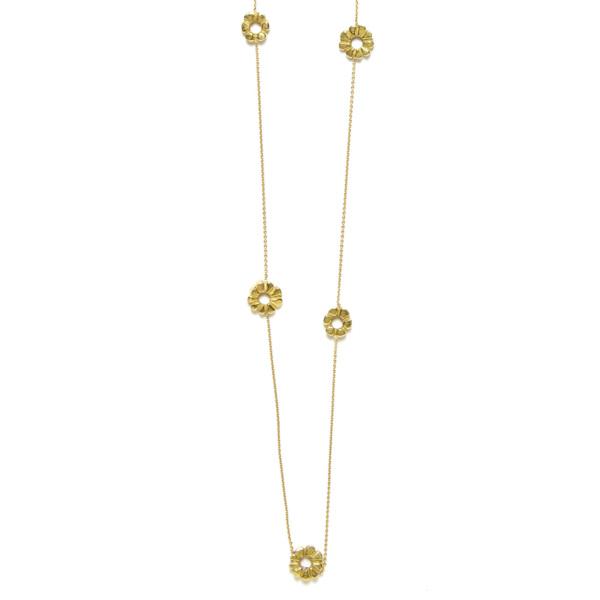 Elisa Solomon - Yellow Gold Flower Child Necklace