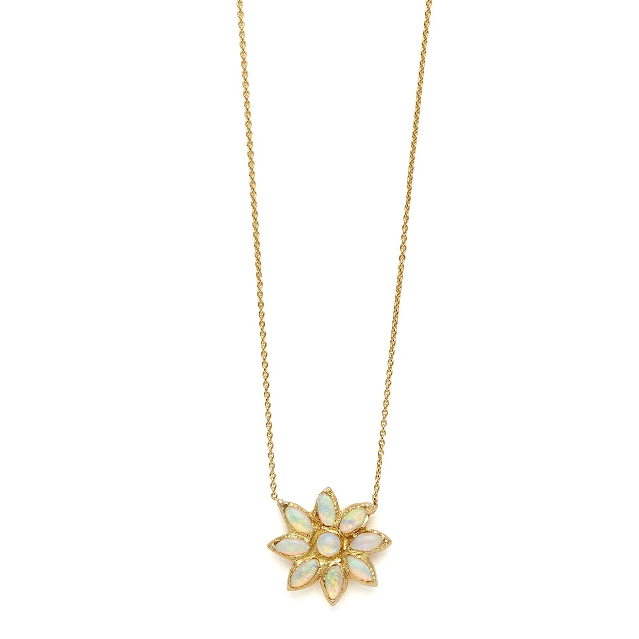 yellow gold flower power necklace