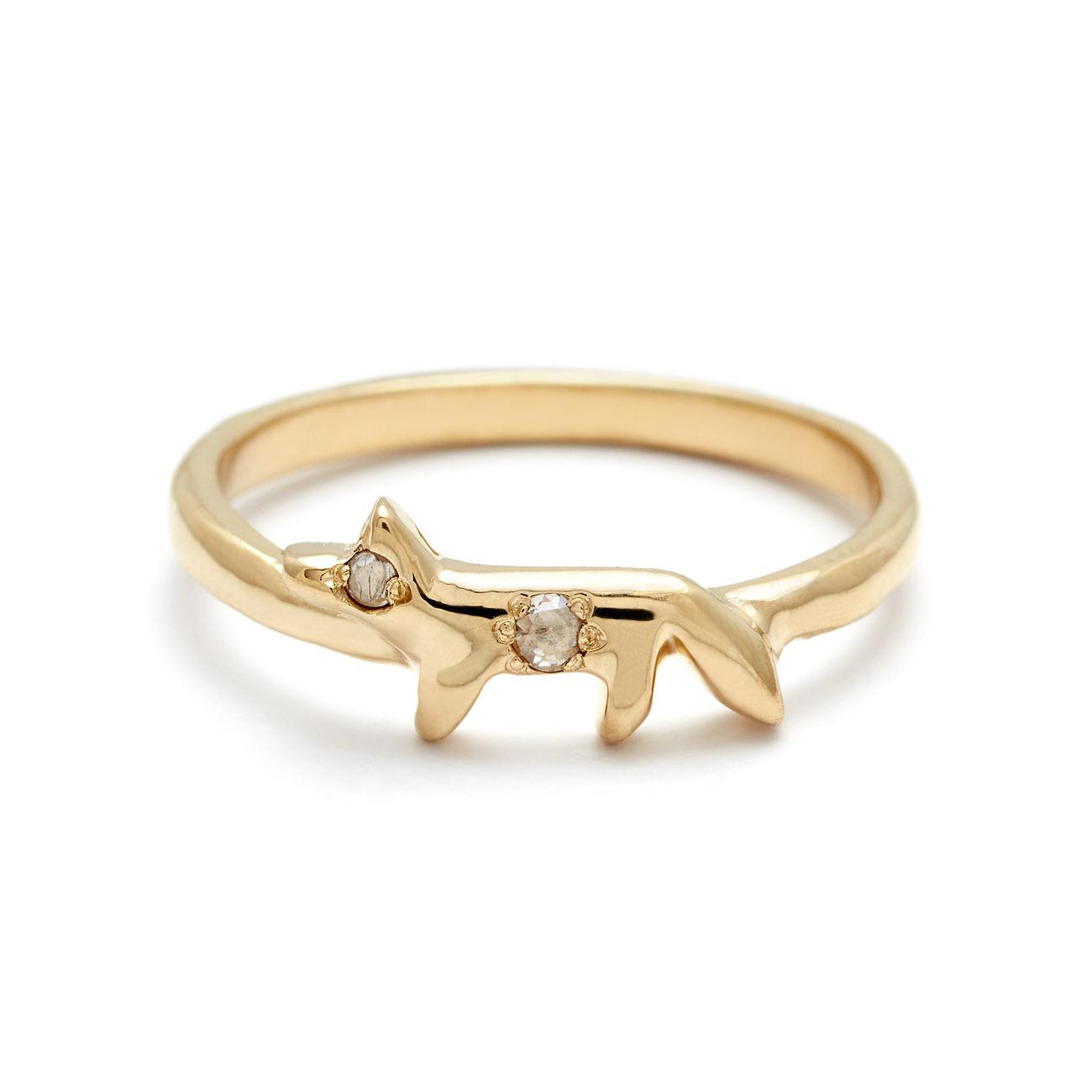 Diamond Fox Ring - Elisa Solomon Jewelry