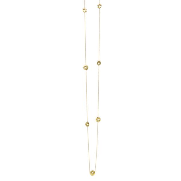 Elisa Solomon - Yellow Gold Long Flower Child Necklace