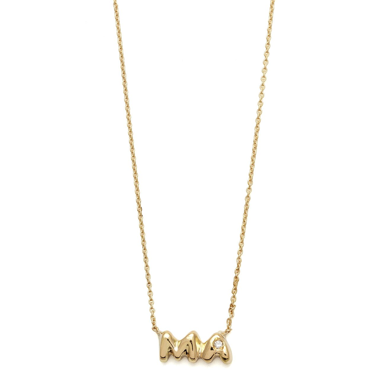 yellow gold ma necklace