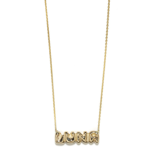 Elisa Solomon - Yellow Gold Name Necklace