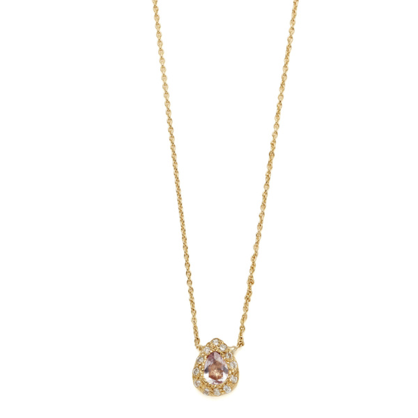 Elisa Solomon - Yellow Gold Pear Necklace