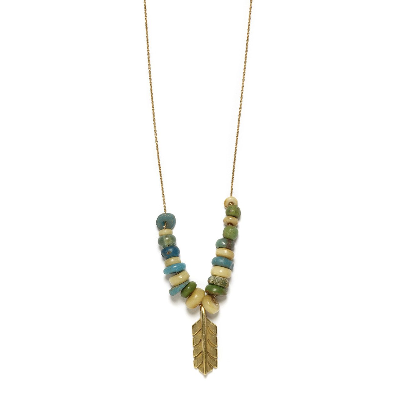 Feather Necklace With Beads Elisa Solomon Jewelry