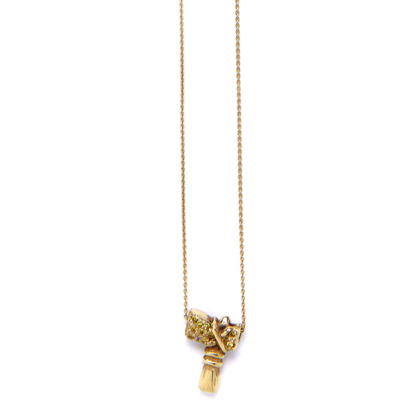 Elisa Solomon - Yellow Gold Tomahawk Necklace