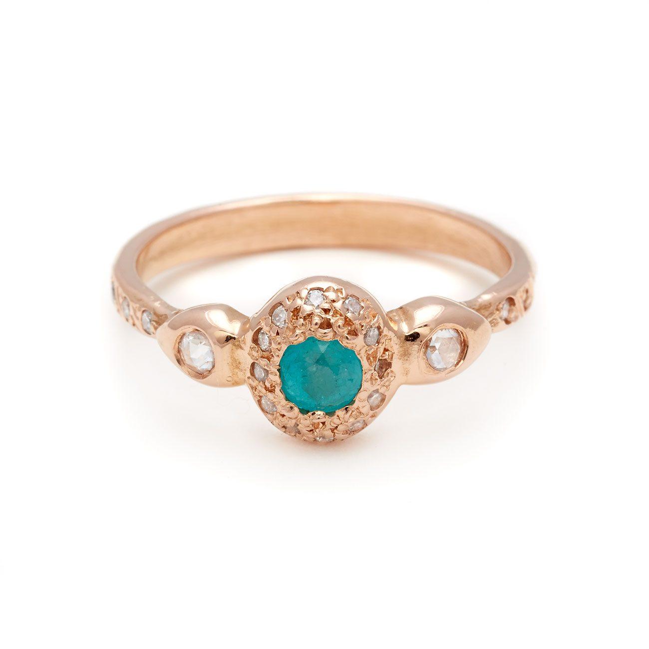 Pink-Gold-Paraiba-Diamond-Engagement-Ring