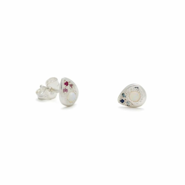 Sterling Silver Pear Studs Elisa Solomon Jewelry