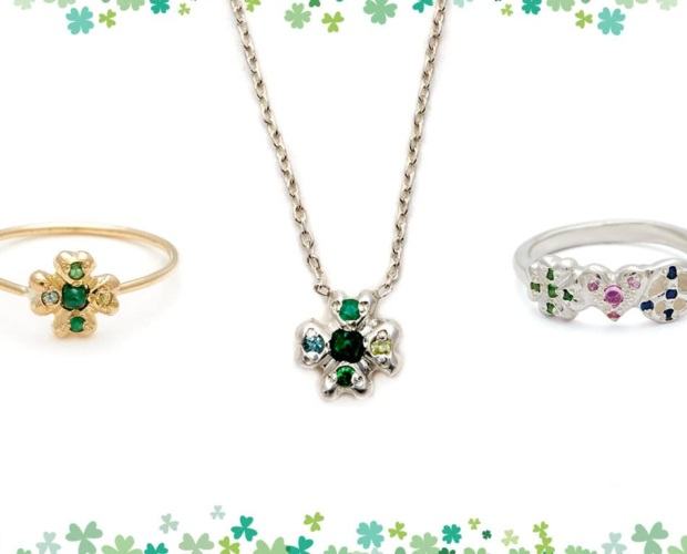 Lucky Jewels - Clover Ring & Necklace - Elisa Solomon