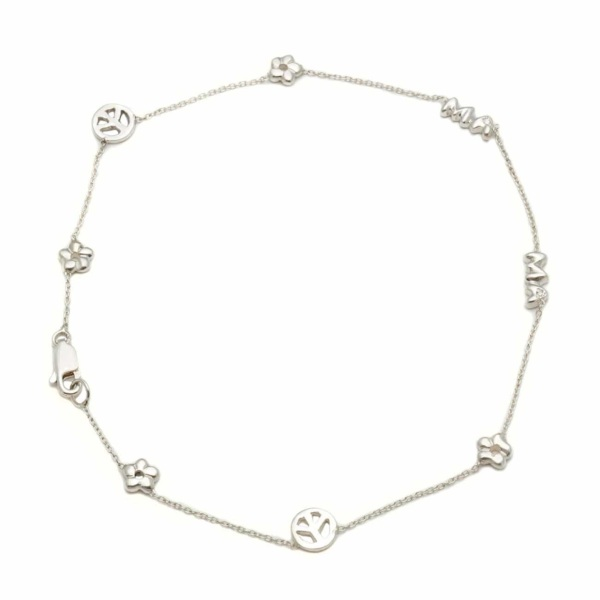 Sterling Silver Mama Anklet