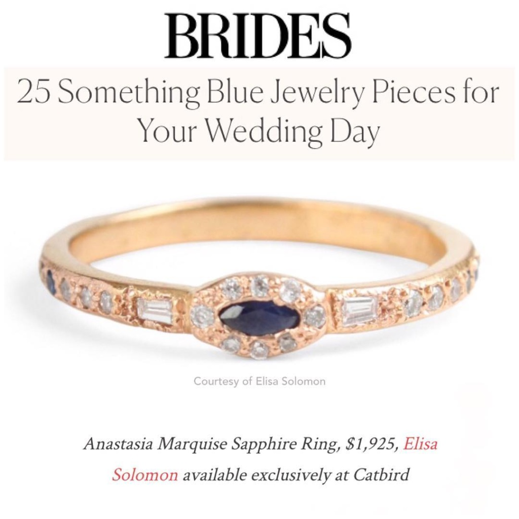 Brides.com Engagement Ring feature Elisa Solomon Jewelry