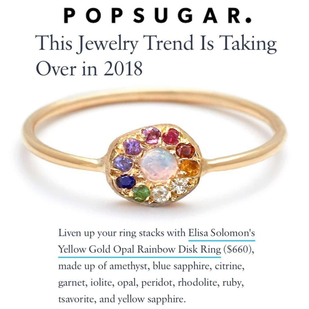 popsugar ring in featured in elisa solomon february 2018 rainbow jewelry trend
