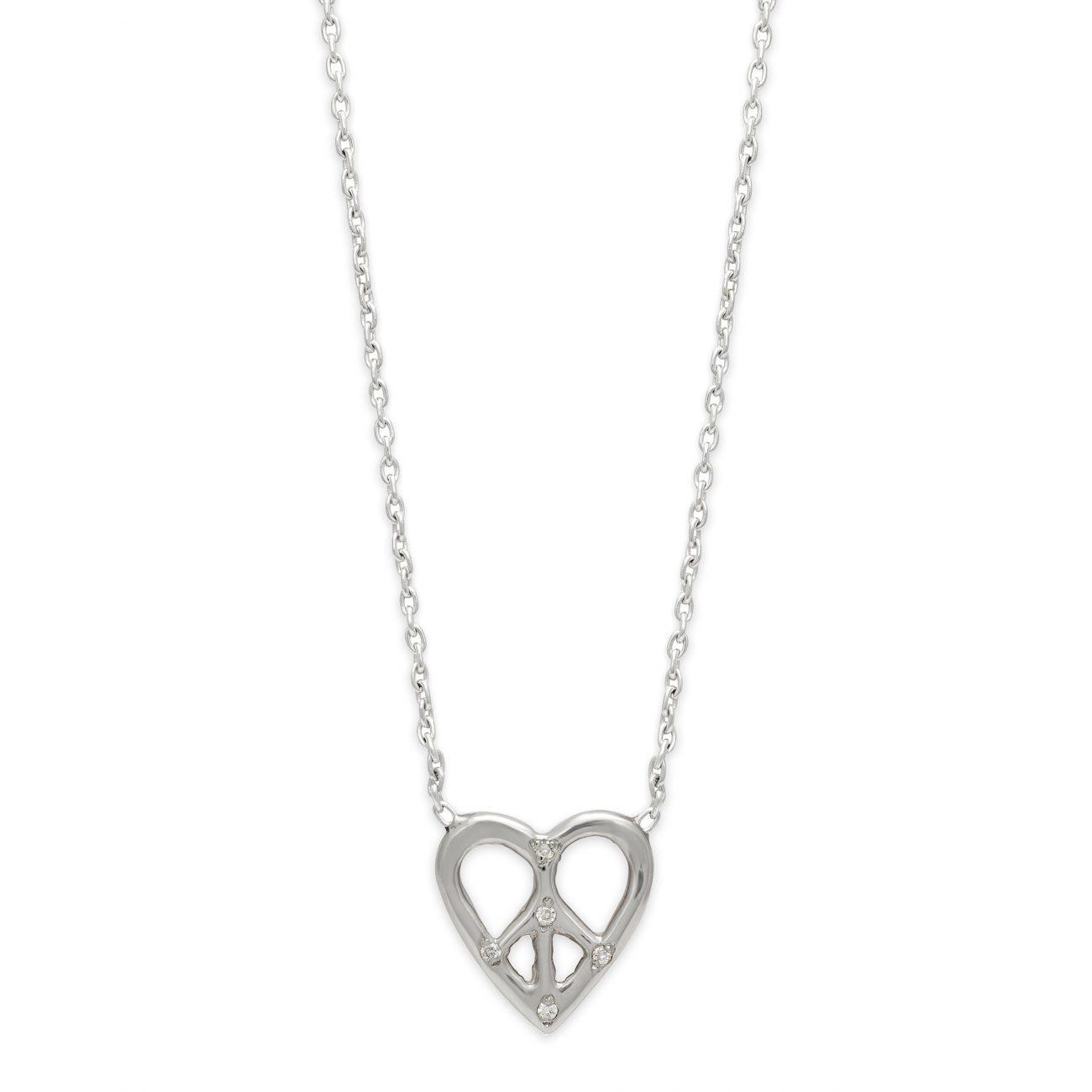 Necklace_SilverPeaceHeart