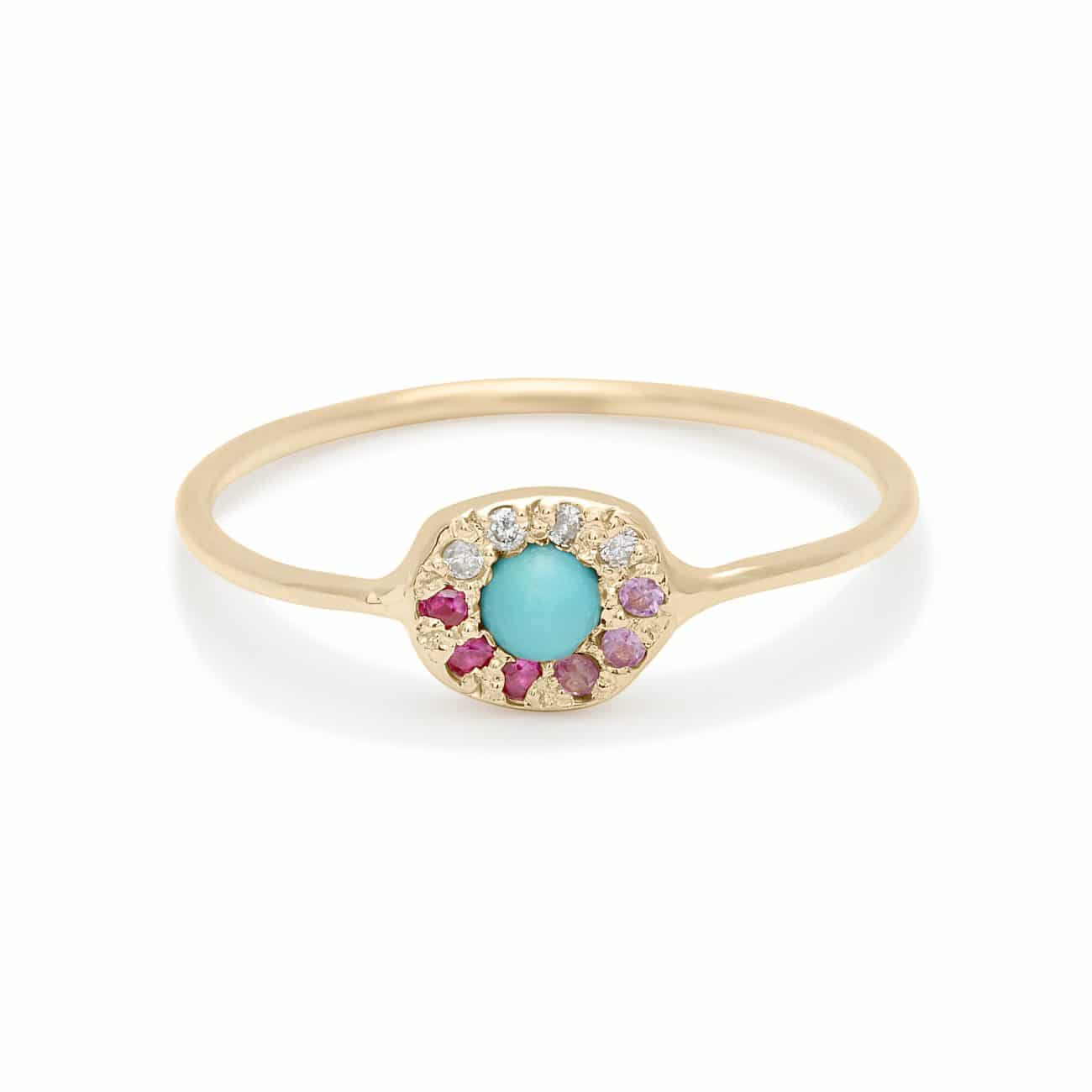 ombre-turquoise-disk-ring