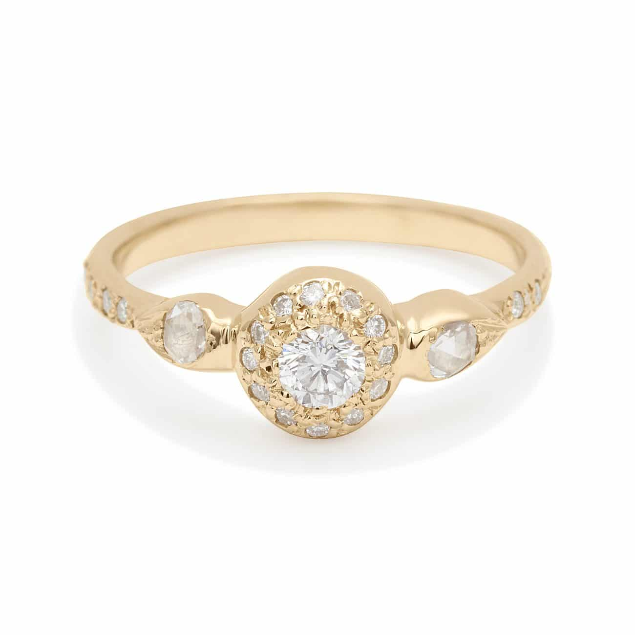 white diamond engagement ring