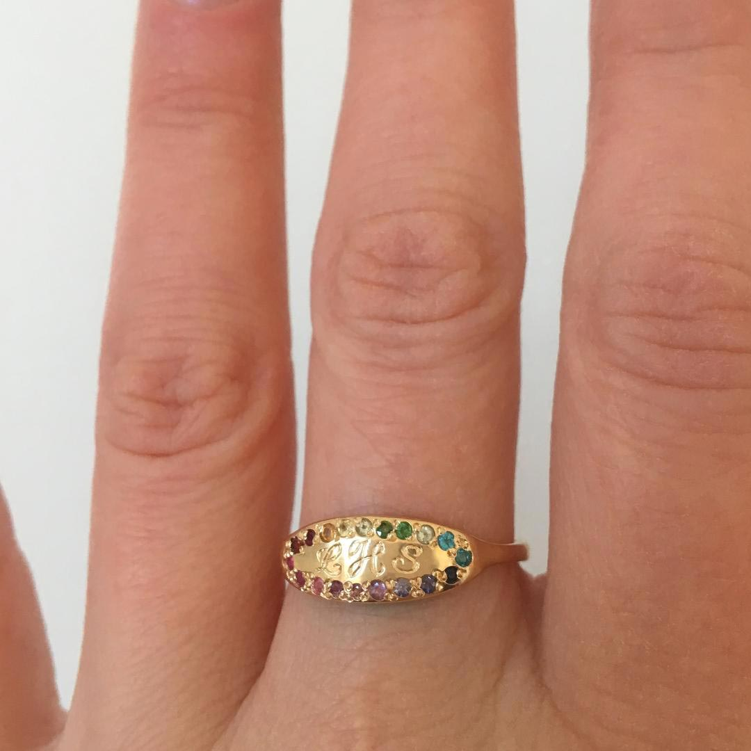rainbow-signet-handmade-engraved-ring-band