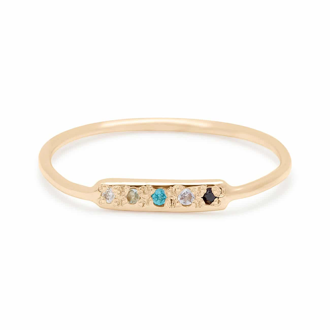 Skinny Bar Ring in 14k Yellow Gold